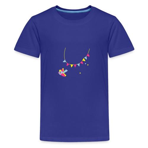 Spatz # Affentanz # bunt - Teenager Premium T-Shirt