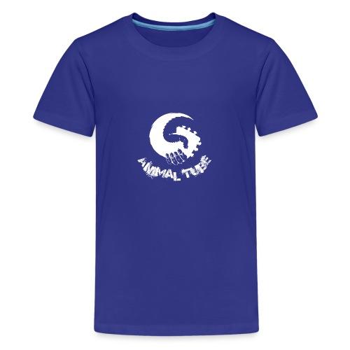 Animal Tube Hand White - Teenager Premium T-Shirt
