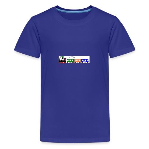 dampfender Zug - Teenager Premium T-Shirt
