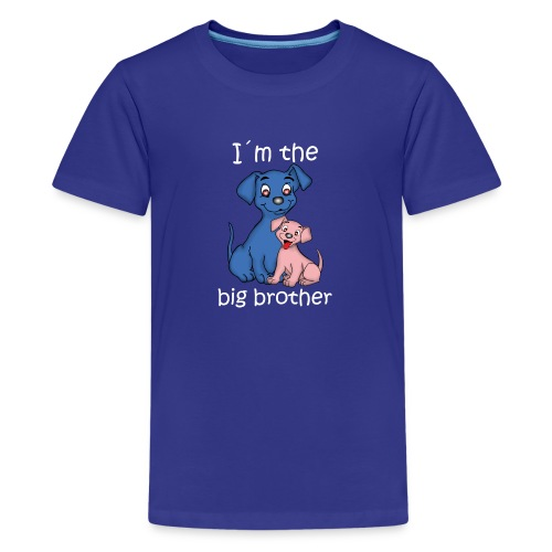 I m the Big Brother puppy - Teenage Premium T-Shirt