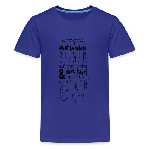 Kopf in den Wolken - Teenager Premium T-Shirt