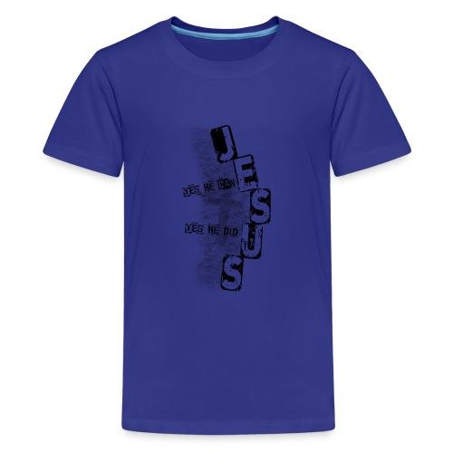 Jesus yes he can schwarz - Teenager Premium T-Shirt