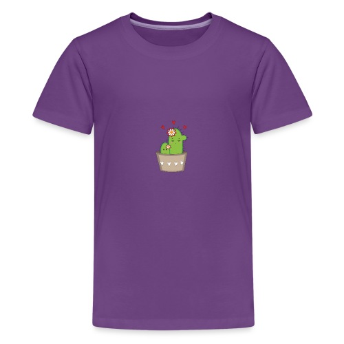 Kaktus Mama mit Kaktus Baby - Teenager Premium T-Shirt