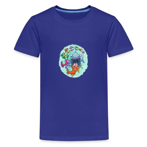 Big fish eat little fish and vice versa - Teenage Premium T-Shirt