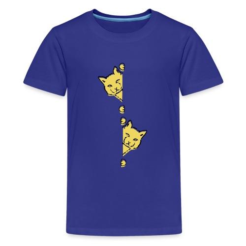 Två gula katter - Premium-T-shirt tonåring