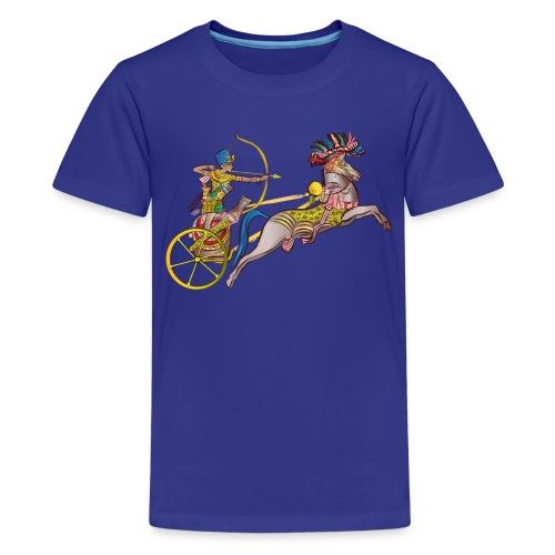 Pharao mit Streitwagen - Teenager Premium T-Shirt