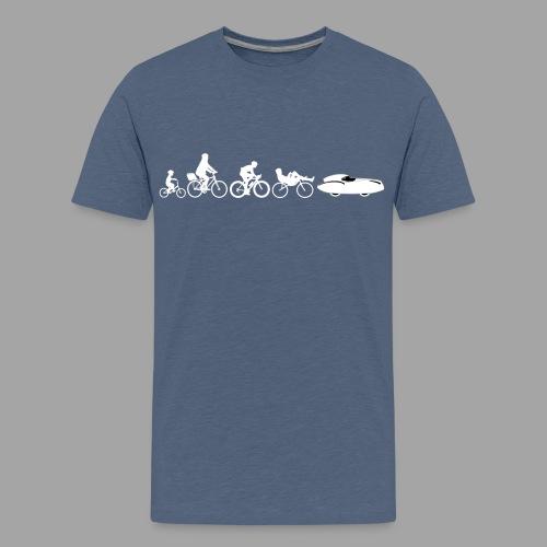 Bicycle evolution white Quattrovelo - Teinien premium t-paita