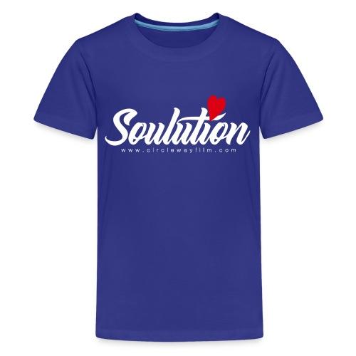 Soulution Logo – weiß - Teenager Premium T-Shirt