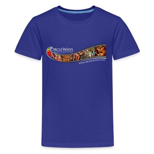 Circleways Filmrolle weiß - Teenager Premium T-Shirt
