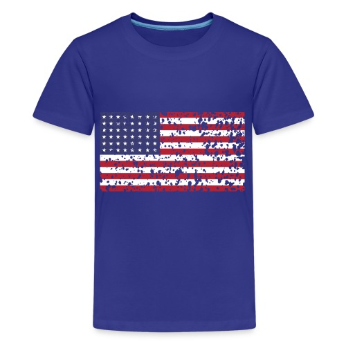 AVM WWII Trashed 48 star flag in color D'Day - Teenager Premium T-shirt