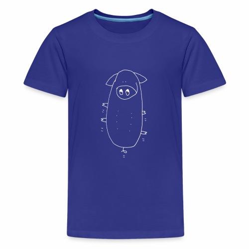 springend varken / bouncing pig - Teenager Premium T-shirt