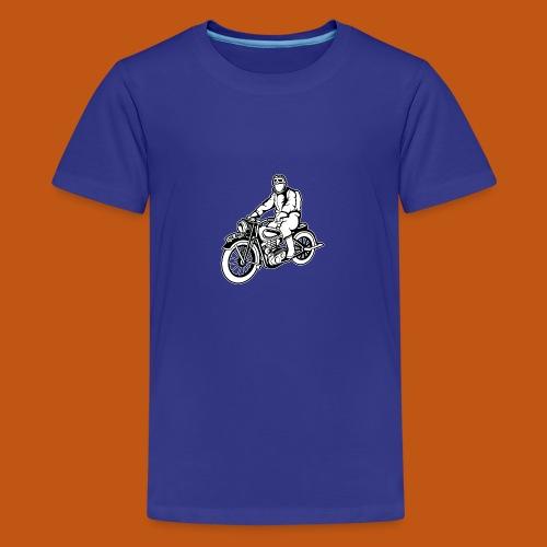 Chopper / Motorrad 04_schwarz weiß - Teenager Premium T-Shirt