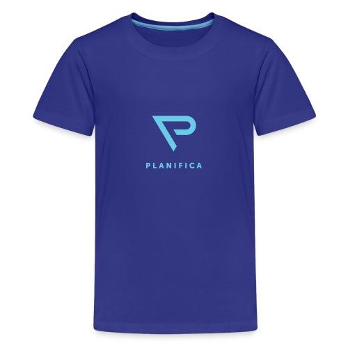 Camiseta Planifica Negra - Camiseta premium adolescente