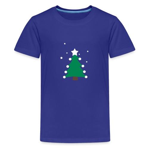 sapin de(avec étoiles),fêtes,formes,cadeaux - T-shirt Premium Ado