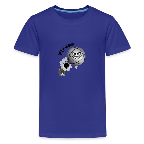 t shirt pétanque tireur boule existe en pointeur N - T-shirt Premium Ado