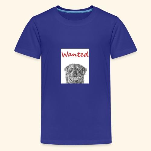 WANTED Rottweiler - Teenage Premium T-Shirt