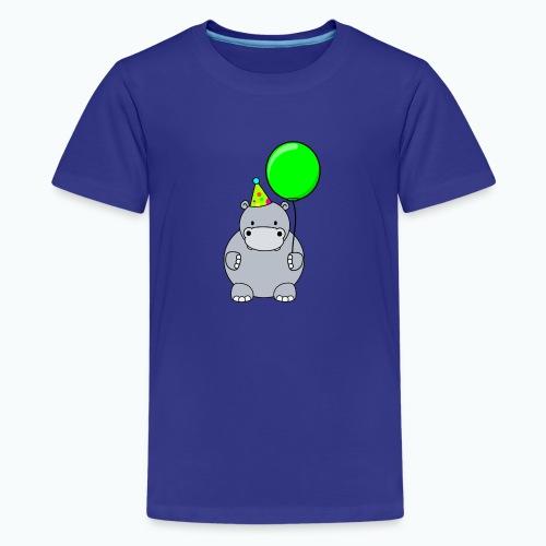 Henri Hippo Party - Appelsin - Premium-T-shirt tonåring