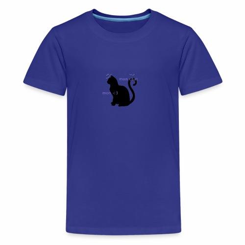 Mon Chat Mon <3 - T-shirt Premium Ado