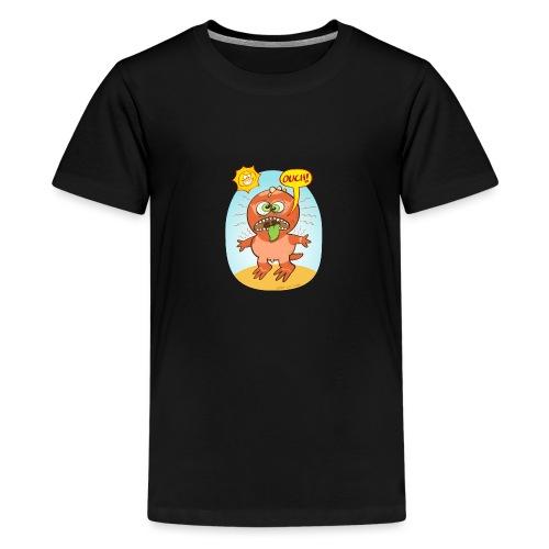 Bad summer sunburn for a funny dinosaur - Teenage Premium T-Shirt