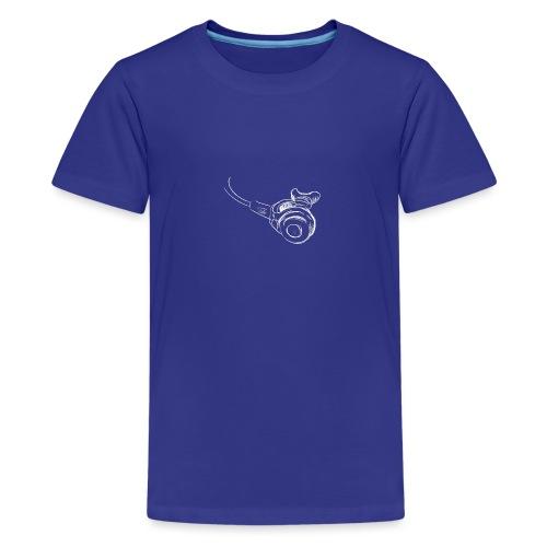 Atemregler weiss - Teenager Premium T-Shirt