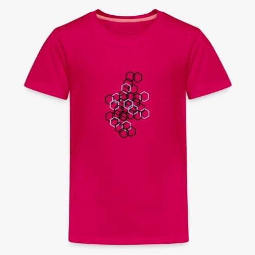 Hexagon Muster - Teenager Premium T-Shirt