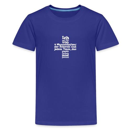 Fan von zwei Mannschaften - Teenager Premium T-Shirt