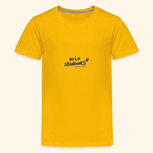 noloabandones negro - Camiseta premium adolescente