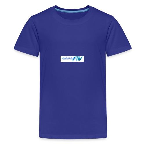 Kiwi logo hoodie - Teenage Premium T-Shirt