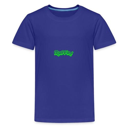 Muffins Text - Premium-T-shirt tonåring