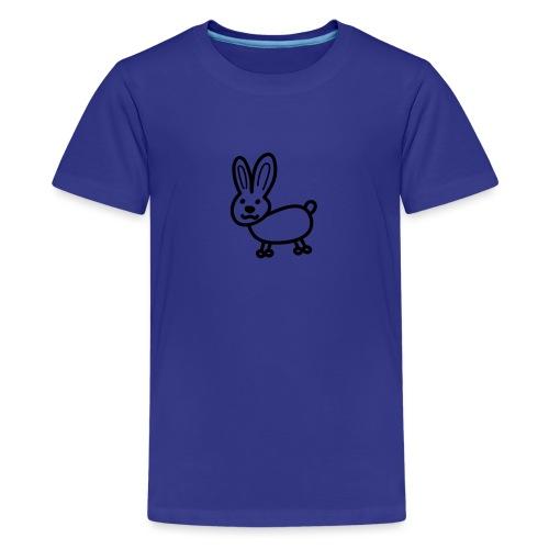 Hase Comicfigur - Teenager Premium T-Shirt