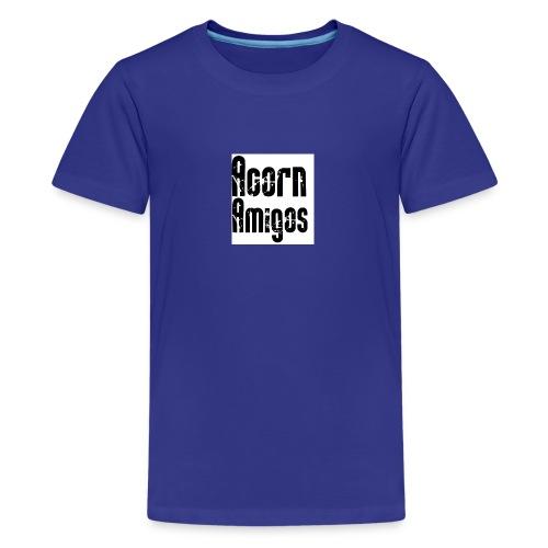 acorn amigos badge - Premium-T-shirt tonåring