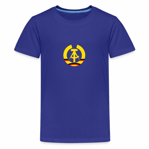 DDR coat of arms stylized (single) - Teenage Premium T-Shirt