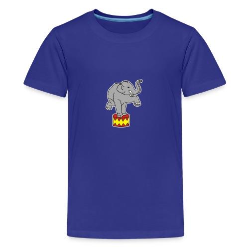 Zoo Zirkus Elefanten Circus Elephants Retro Comic - Teenager Premium T-Shirt
