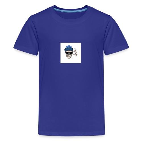 sommersweat panel 56x64 cm totenkopf - Teenager Premium T-Shirt