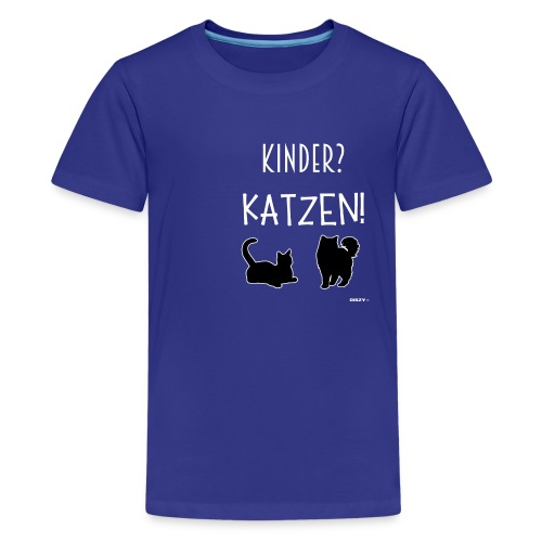 Meine Katzen sind meine Kinder Katzenliebhaber - Teenager Premium T-Shirt