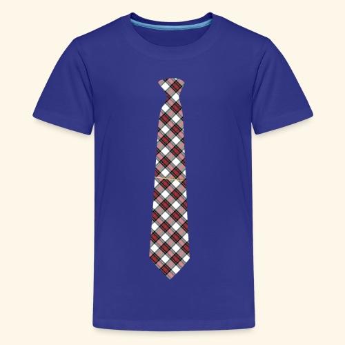 Krawatte 125 mit Goldnadel - Teenager Premium T-Shirt