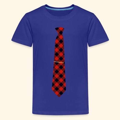 Krawatte 126 mit Goldnadel - Teenager Premium T-Shirt