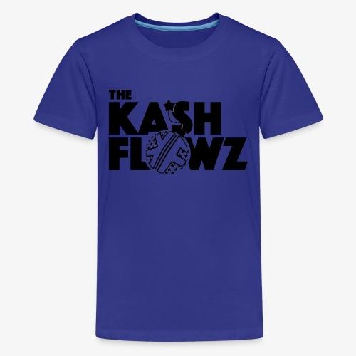 The Kash Flowz Official Bomb Black - T-shirt Premium Ado