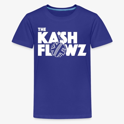 The Kash Flowz Official Bomb White - T-shirt Premium Ado