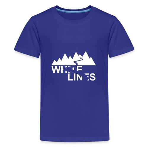 White Lines v3 - Teenager Premium T-Shirt