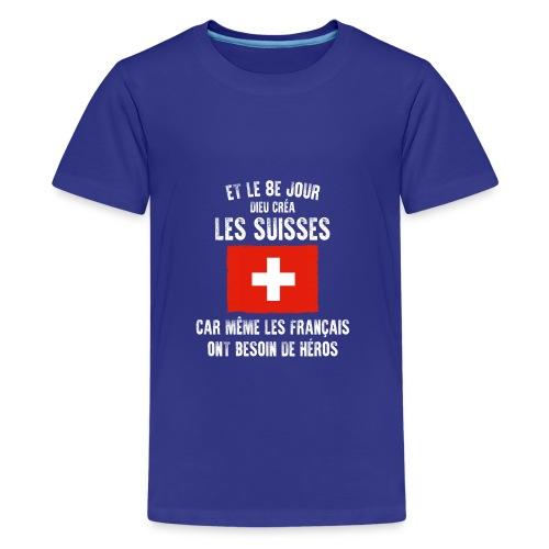 Et le 8ème jour Suisse - T-shirt Premium Ado
