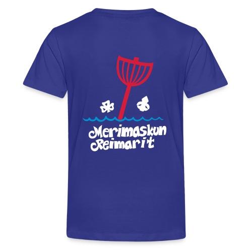 viivapiirros pakattu zip - Teinien premium t-paita
