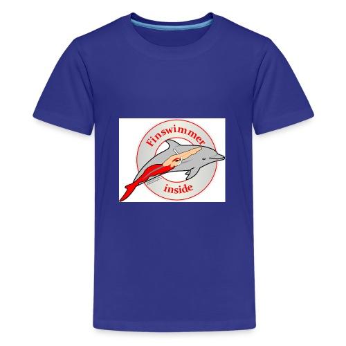 Logo für alle Freunde des Finswimming - Teenager Premium T-Shirt