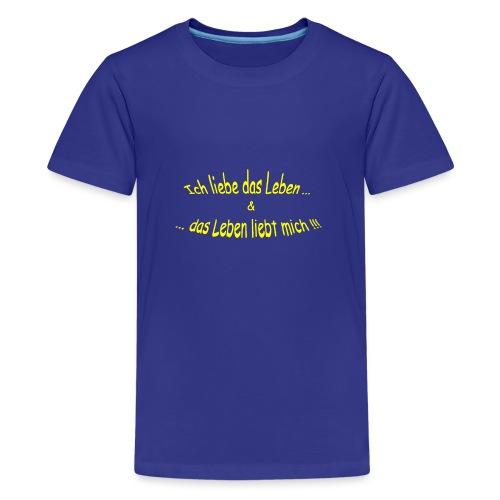 Ich-liebe-das-Leben-gelb - Teenager Premium T-Shirt