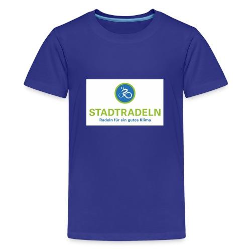Stadtradeln quadratisch CMYK 300dpi jpg - Teenager Premium T-Shirt