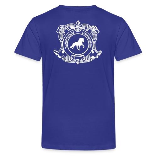 islandpferdereistchule pfad ohneweb - Teenager Premium T-Shirt