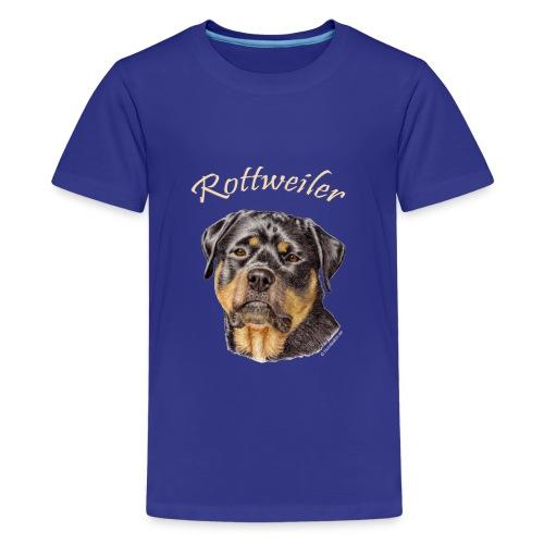 Rottweiler med rasnamn - Premium-T-shirt tonåring