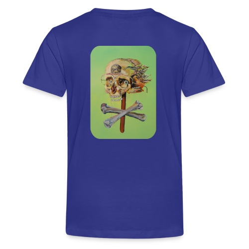 oil painting of skull and bones - Teenager Premium T-shirt