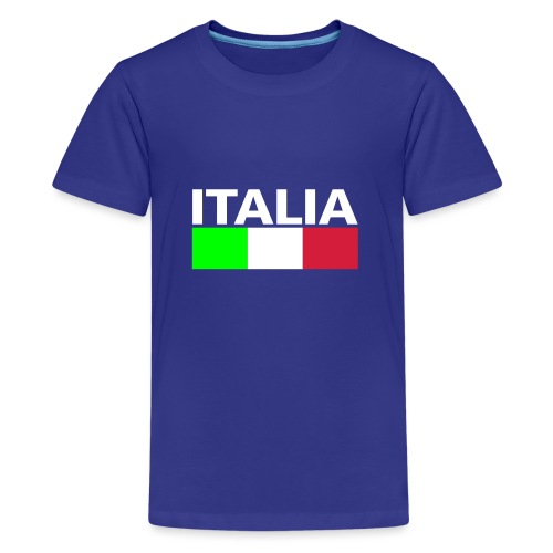 Italia Italy flag - Teenage Premium T-Shirt