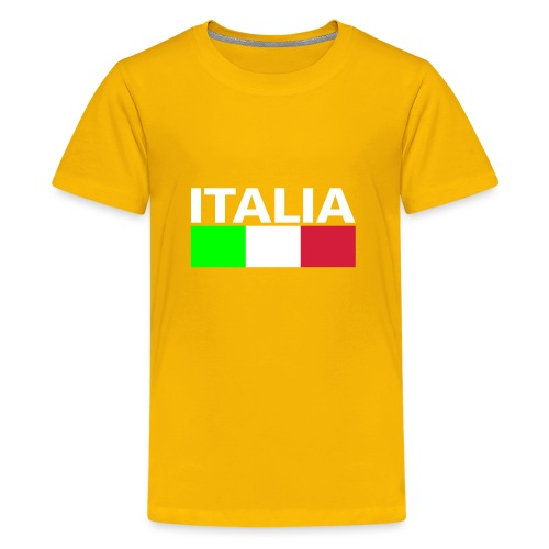 Italia Italy flag - Teenage Premium T-Shirt
